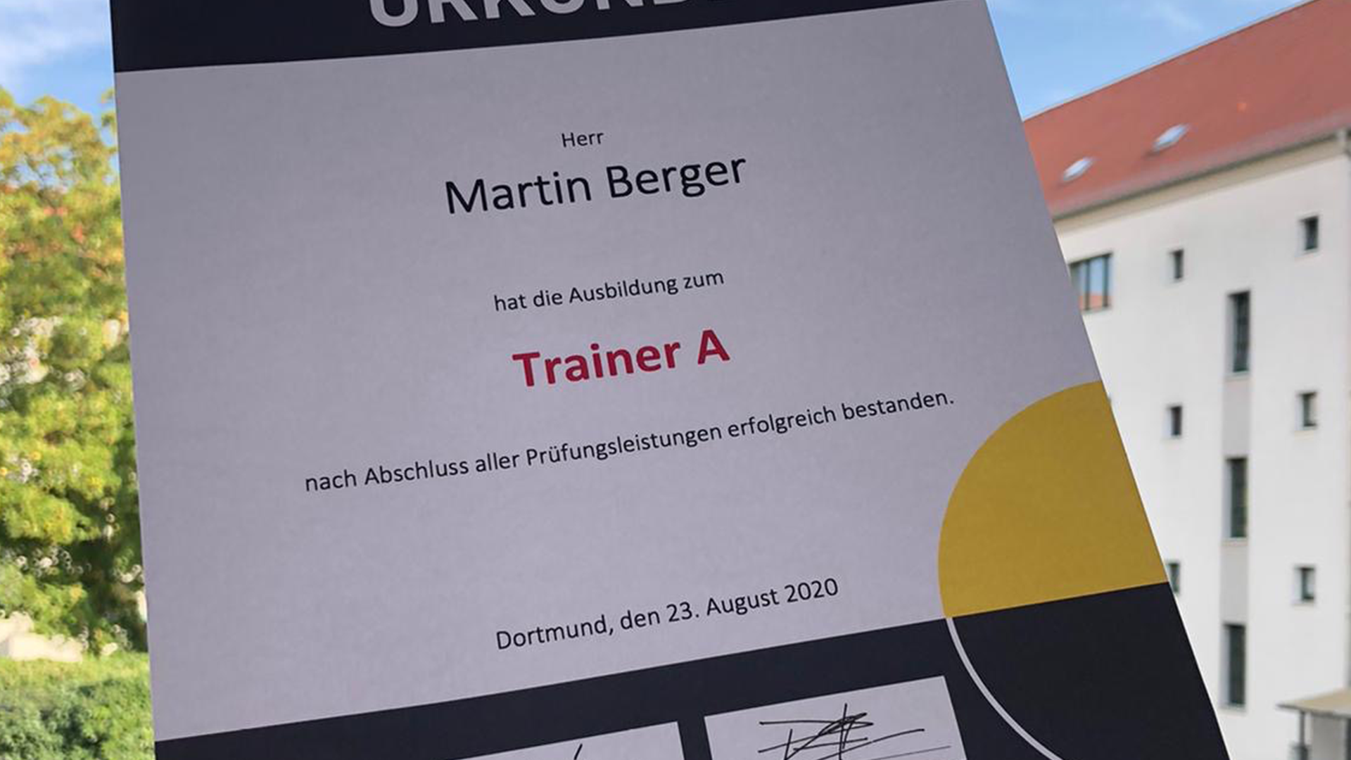 DHB A-Trainer*in-Ausbildung